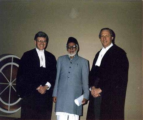 Hafiz Sher Mohammad with advocates